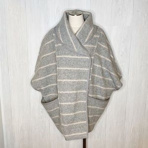 Free People | Striped Blanket Poncho Coat